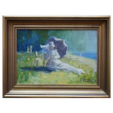 M JUNOT Danish School Mid 20th Century Oil Painting