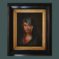French School Madonna c1750 Agulhon Oil Painting