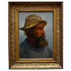 Anton DORPH (1831-1914) Zealand Fisherman Oil Painting