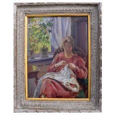 Gabriel Oluf JENSEN (1862-1930) Danish School Oil Painting c1920