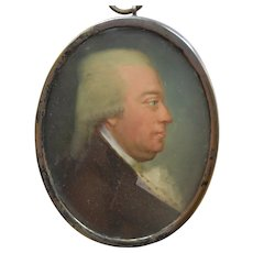 Portrait Miniature Swedish School, Dated 1797, Silver Frame.