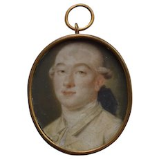 Modest School c1760 English Portrait Miniature
