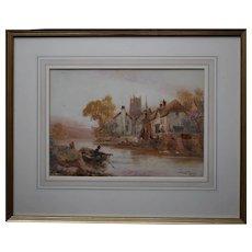 Walter Stuart LLOYD (1845-1959) Fishing Village c1900