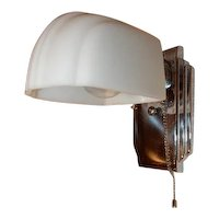 Nickel Plated Vintage Bathroom Kitchen Sconce