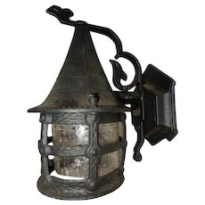Vintage Cottage Tudor Bungalow Storybook Porch Lamp