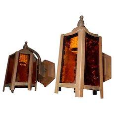 Cottage Bungalow Copper Porch Lamps with Original Finish