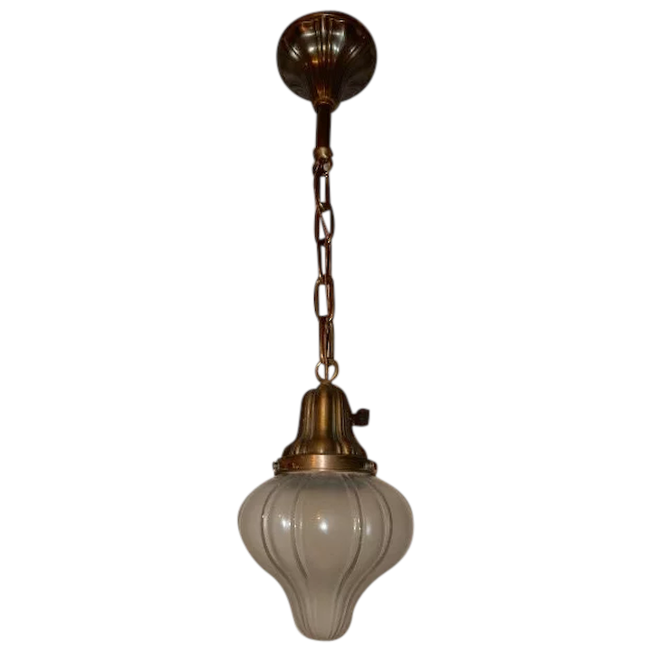 Mission Arts Crafts Sheffield Pendant Light With Matching Shade