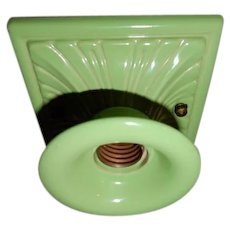 Arts & Crafts Bungalow Cottage Green Porcelain Fixture---On Hold