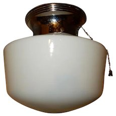 OLD School House Globe Ceiling Fixture------Low Profile