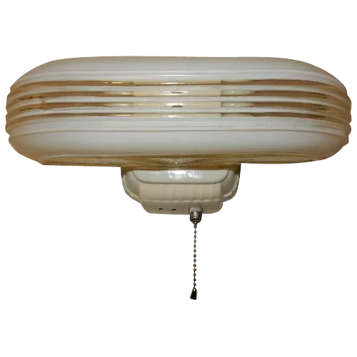 Vintage Streamlined Deco 2 Light Bulb Porcelain Bathroom Wall Fixture Midwestern Lamp Connection Ruby Lane