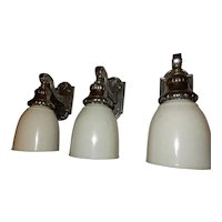 Cast Bronze Nickel Plate Pullman Railroad Car Wall Sconce Fixture---3 Avail.