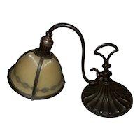 Antique Art Nouveau Bronze B & H Bradley & Hubbard Desk Table Lamp Original