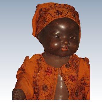 Black Armand Marseille Baby Doll  351  13,5 inch