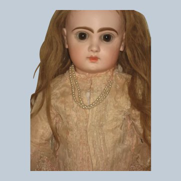 Jumeau Doll Very Beautiful Antique Dress 25 inch