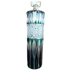 - HOLIDAY SPECIAL - Illuminating VAL-SAINT-LAMBERT Emerald Cut Glass Table Lamp - 19th Century Art Glass from Belgium - Signed