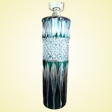 - HOLIDAY SPECIAL - Illuminating VAL-SAINT-LAMBERT Emerald Cut Glass Table Lamp - 19th Century Art Glass from Belgium - Signed