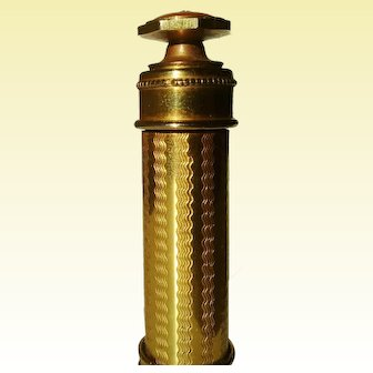JANIR, Stunning Art Deco Guilloche Perfume Atomizer
