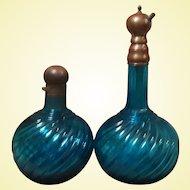 Extremely Rare Turquoise Baccarat Perfume Bottles