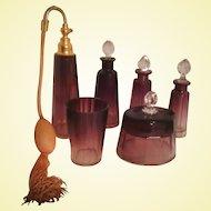 Amethyst Boudoir Perfume Bottles Set