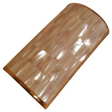 Stunning Mother of Pearl Barrel-shaped Vanity Case