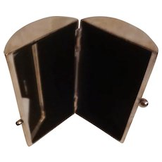Vintage Vanity Case / Barrel-shaped Make-up Box