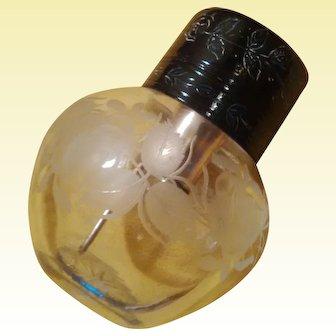 Baccarat Enameled Cameo Perfume Atomizer