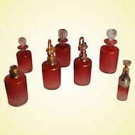ART GLASS by Saint-Louis - 12-pc Cranberry Cameo Perfume Set