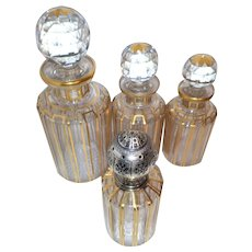 "Up To 75% Off Liquidation - Baccarat ""CANNELURES"" Design - Superb Perfume Decanters & Lampe Berger Set"