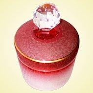 ART GLASS - Saint-Louis, Cameo Cranberry Vanity Jar