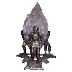 BLACK FRIDAY - Impressive Figural Planter / Jardinière / Centrepiece Featuring Stunning Metal Blackamoors