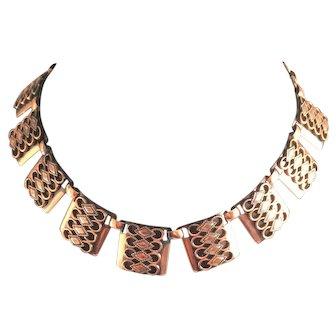 Copper Renoir-Matisse Stylized Necklace