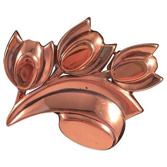 Tulip Renoir Copper Pin