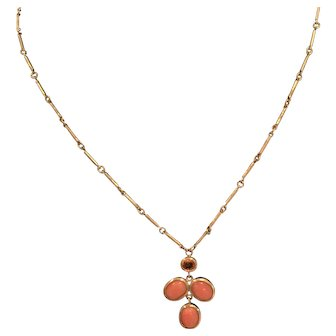 Orange Sapphire Necklace, 18-karat gold