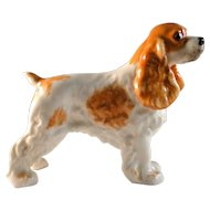 Vintage Boehm Cocker Spaniel dog figurine in excellent estate condition
