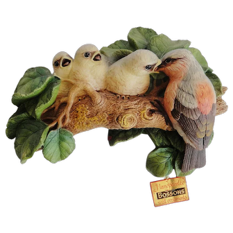 Rare Bossons chalkware wall hanging Imagical Models Chaffinch from 1971 with tags