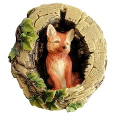 Bossons Chalkware Fox Cub signed 1971 very fine condition