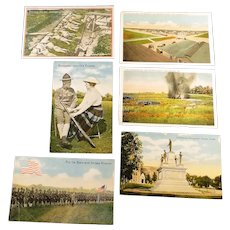 Six postcards WWI era