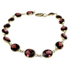 Vintage 14kt gold Garnet bracelet
