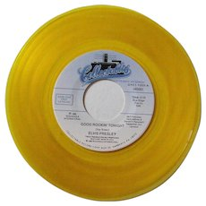 Elvis Presley limited edition 45rpm record on yellow or gold vinyl, Good Rockin' Tonight