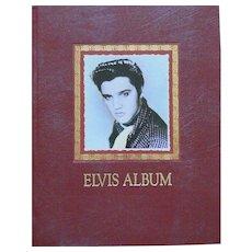 Elvis Presley hardback book, scrapbook style, ELVIS ALBUM from 1991