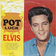 Elvis Presley original print album POT LUCK from the early 1960s on RCA Victor in very good condition