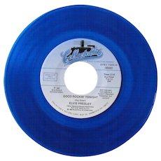 Elvis Presley 45 on blue vinyl, Collectables label, Good Rockin' Tonight