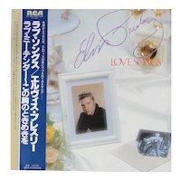 """Vintage Elvis Presley album """"Love Songs"""", unique package made in Japan from 1981"""