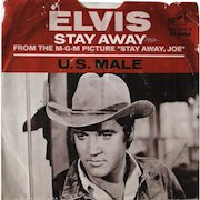 """2 Elvis Presley 45s, """"Stay Away Joe"""" with picture sleeve, promotional 45 of """"Hurt"""""""