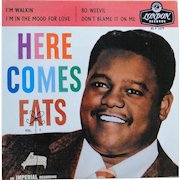 Original 1950s Fats Domino EP vinyl record made in England with cover