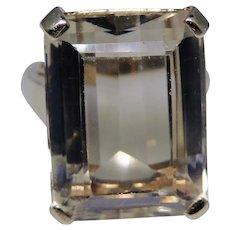 Large vintage Citrine ring set in 14kt gold size 7