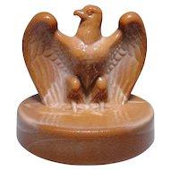 Fenton chocolate glass bicentennial Eagle excellent condition