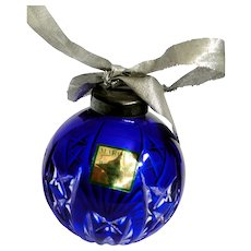 Marquis by Waterford cobalt ornament cut to clear 1992