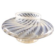 Fenton opalescent swirl clear glass bowl