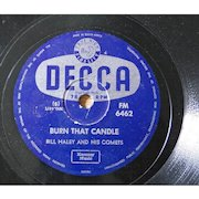 """Original 1950s Bill Haley 78rpm from South Africa """"Burn That Candle"""""""